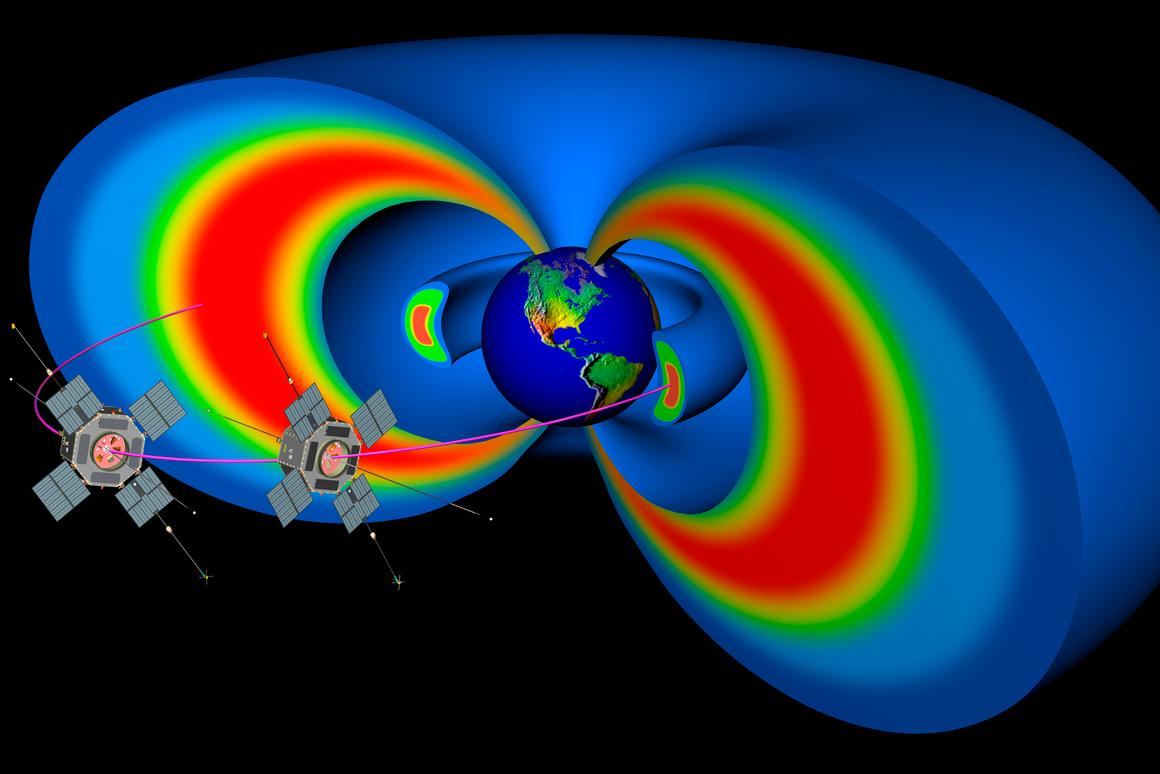 The RBSP mission will study the Van Allen Belts (Image: JHU/APL)