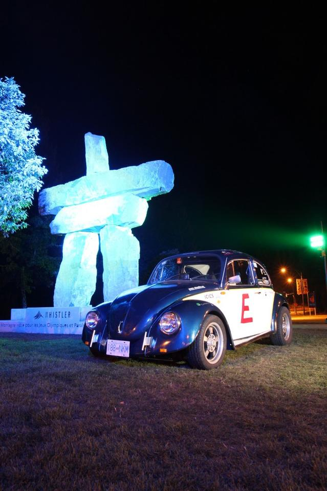 The E-Beetle near its Vancouver starting point
