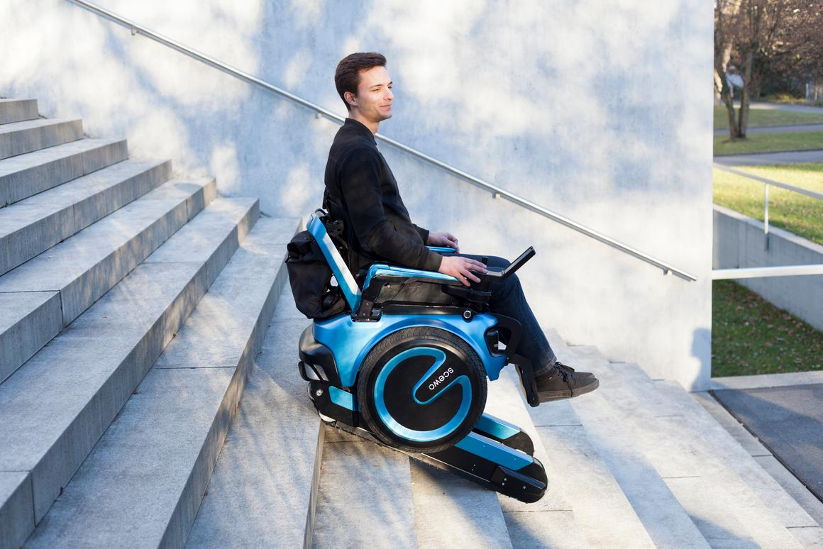 The Scewo is a latest, and most stylish, iteration of a stair climbing wheelchair from a team of Zurich-based designers