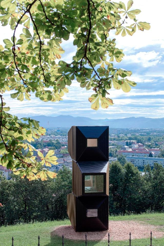 Living Unit on Ljubljana Castle was made in collaboration with Permiz, C+C, C28, and AKT