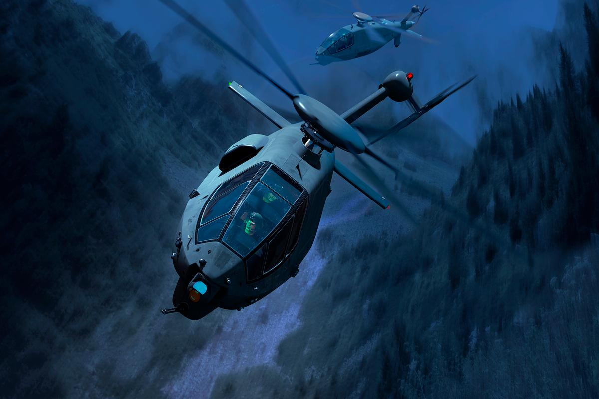 Artist's concept of the Boeing FARA helicopter