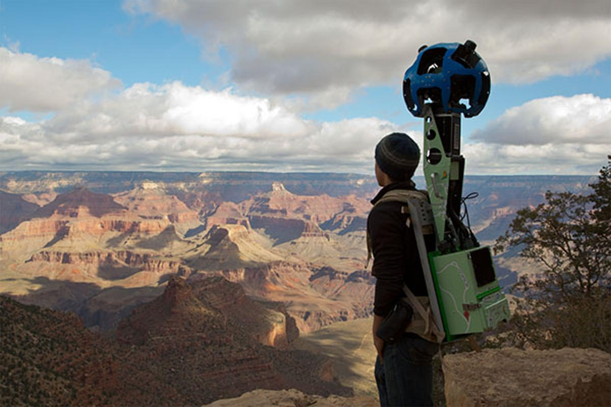 Google Maps used backpack-mounted cameras to capture stunning 360-degree panoramic images of the Grand Canyon