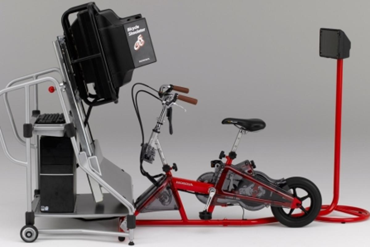 The Honda Bicycle Simulator developed for the purpose of traffic safety education