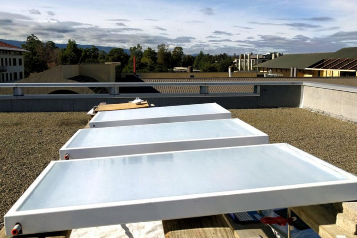Radiative sky cooling systems use reflective panels to emit heat into space, potentially cooling a building in the process