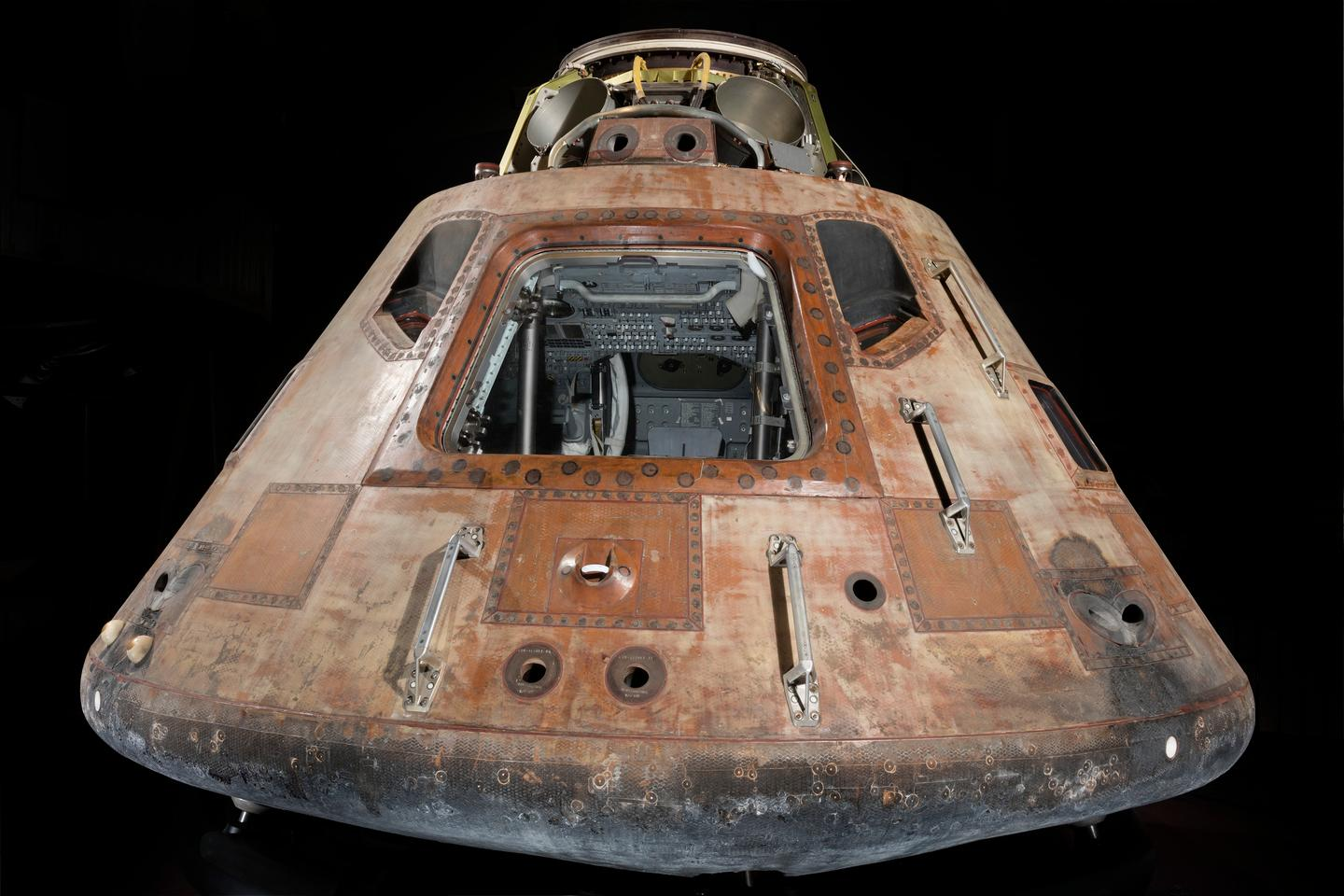 The command module from Apollo 11 – the living quarters of Armstrong, Aldrin and Collins on the first lunar landing mission in 1969