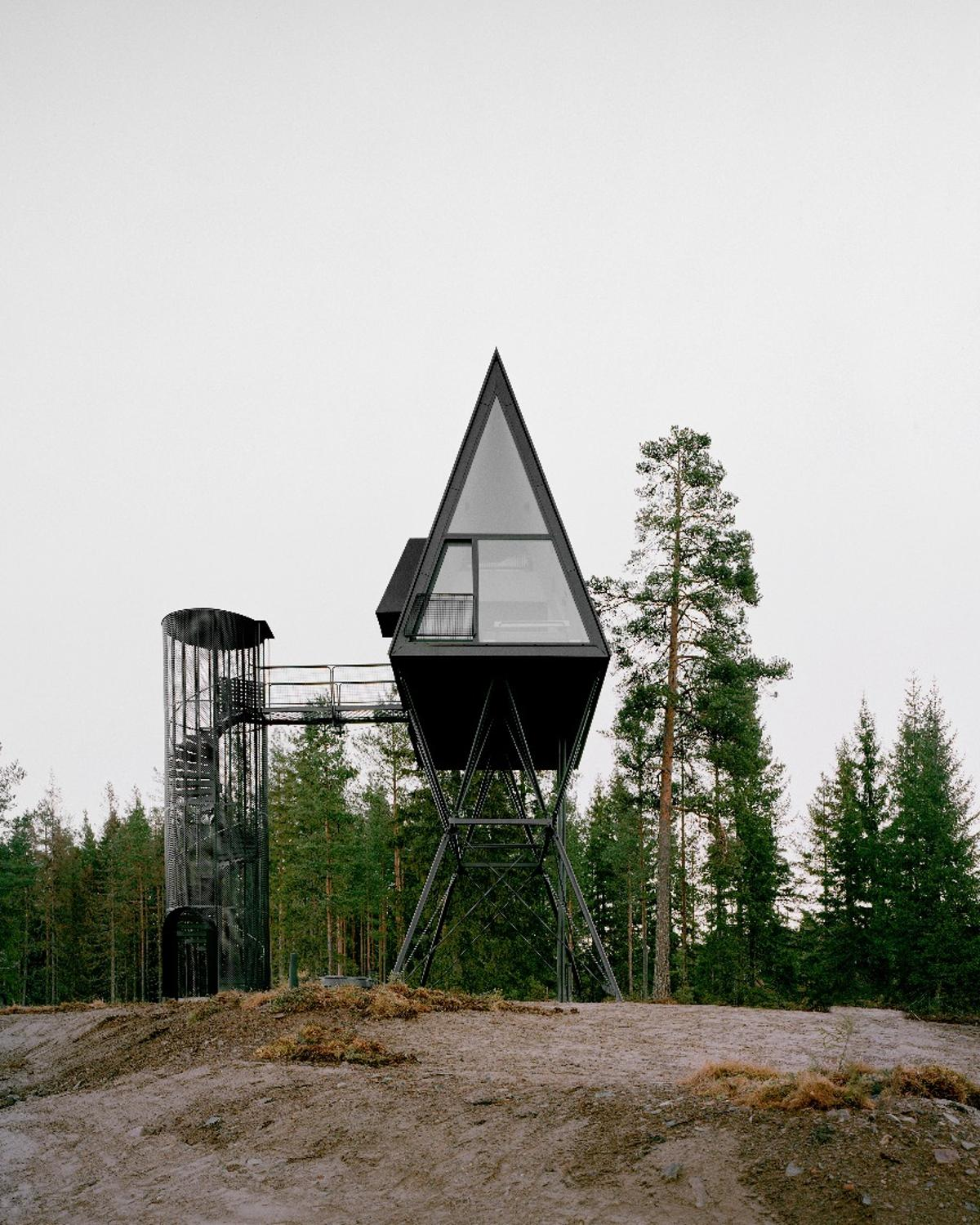 ThePan Treetop Cabins are part-inspired by theMoomins and are raised 8 m (26 ft) above the ground