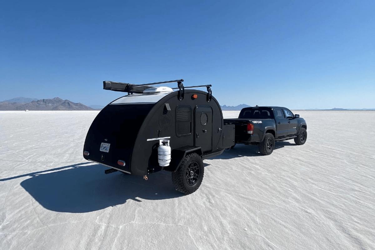 The all-black Black Bean stands out a little better when rolling over desert salt