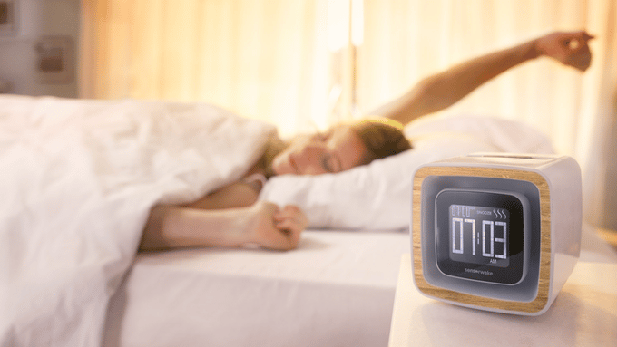 The SensorWake Trio is an alarm clock that wakes you up with the smell of your choice