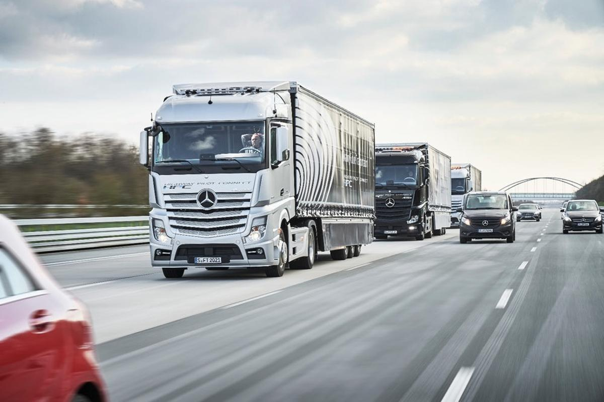 Daimler has been busy putting its platooning technology through it paces