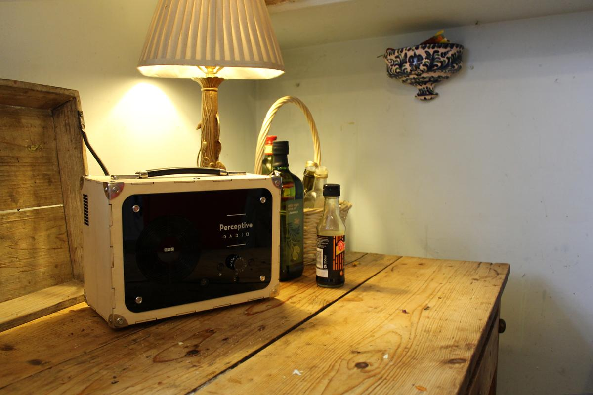 The Perceptive Radio uses local data and onboard sensors to adjust itself and even alter the script of a radio play in real time. (Photo: Mudlark)
