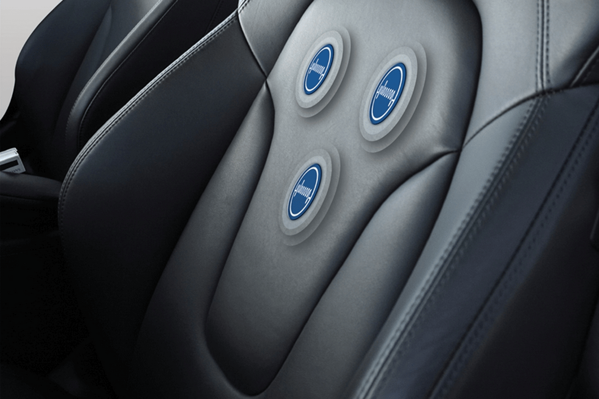 Sensors right in car seat textile could be used to monitor heart rate and detect when a driver is falling asleep