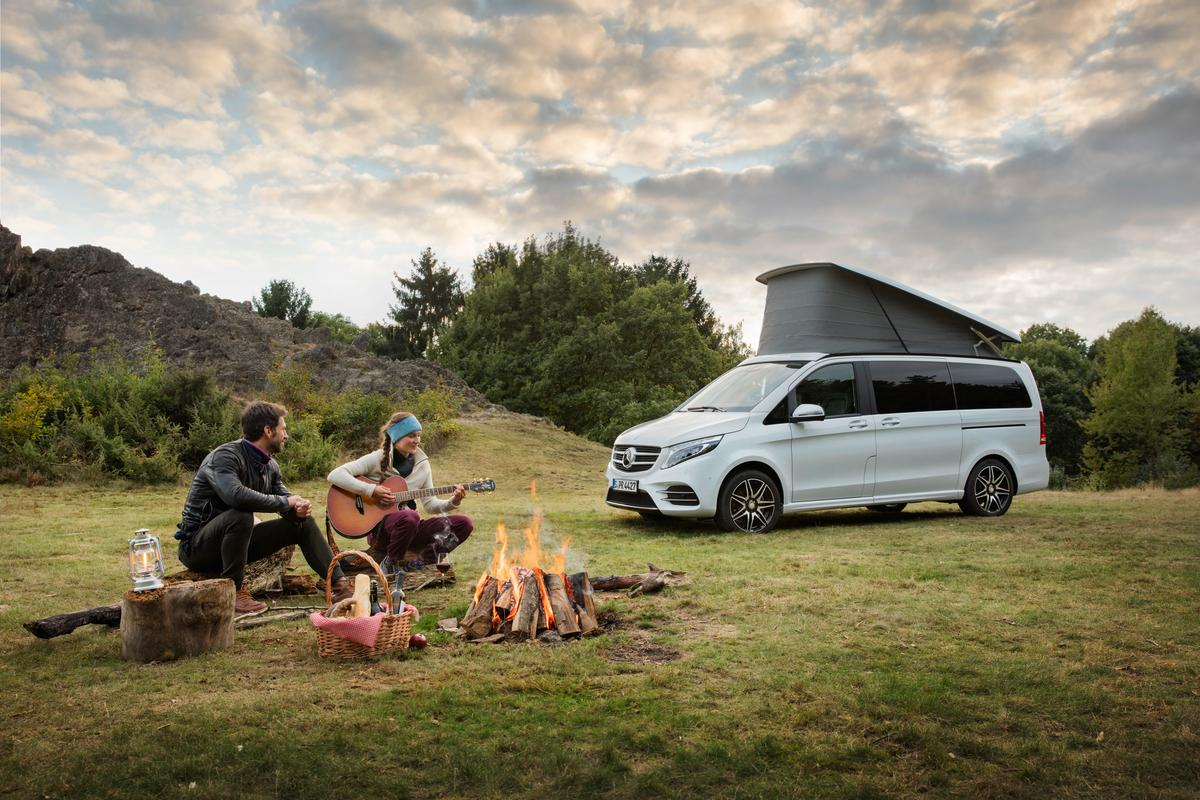 At camp with the Mercedes Marco Polo Horizon