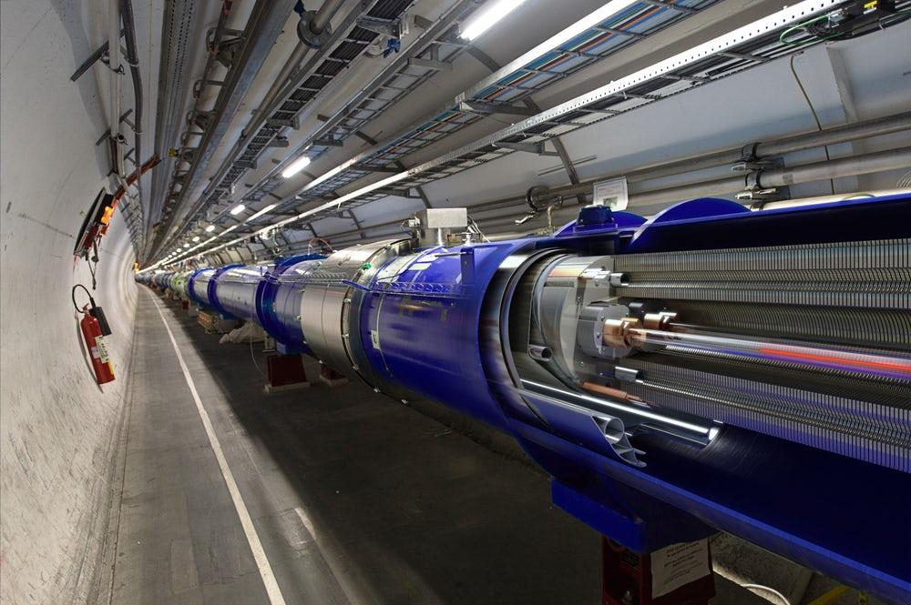 As a 27-km-long (16.7-mi) ring of pipes packed with thousands of powerful magnets and advanced liquid helium cooling system to house high energy particle beams, the Large Hadron Collider has proven a hotbed for discovery in the world of particle physics