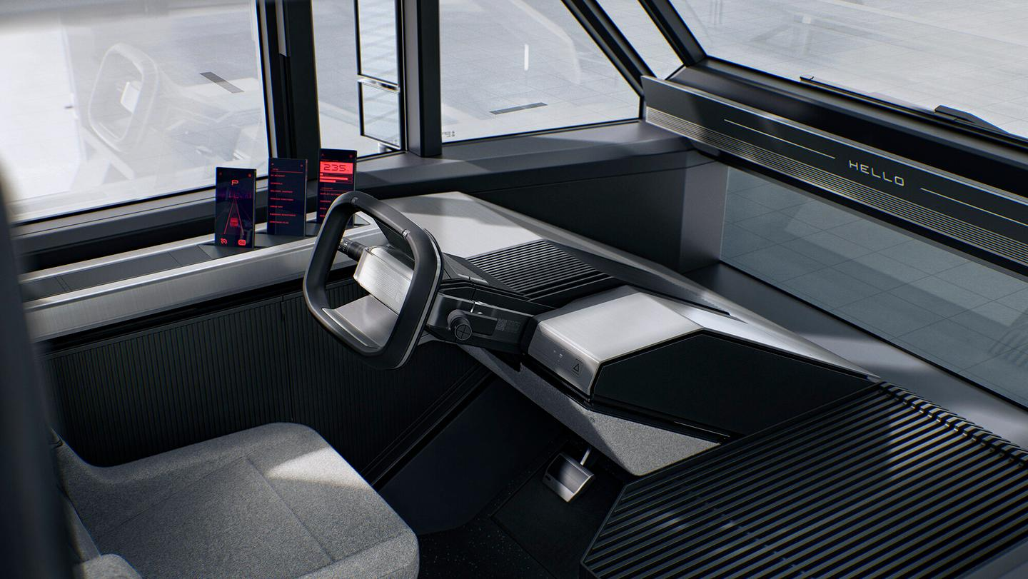 There's space for cargo in the cabin too, along with storage for mobile devices or logistics machines