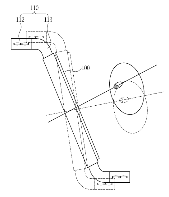 Samsung's proposed flying display device would be able to sense where a user is looking, and adjust the angle of the screen accordingly