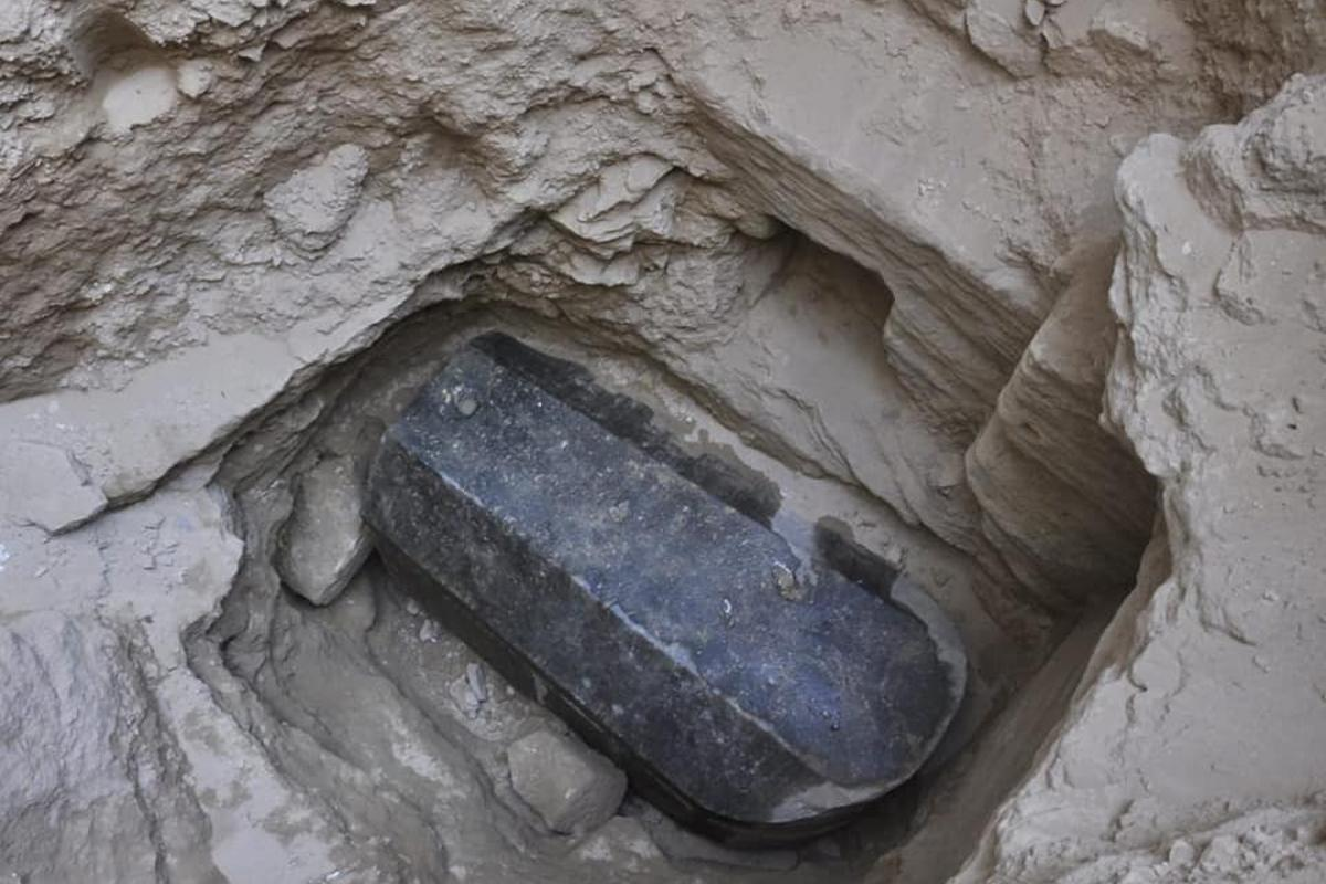 The sarcophagus was found in a tomb 5 meters (16 feet) below the surface