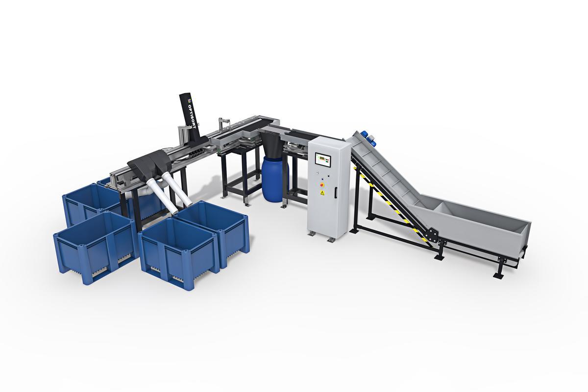 The Optisort battery-sorting machine