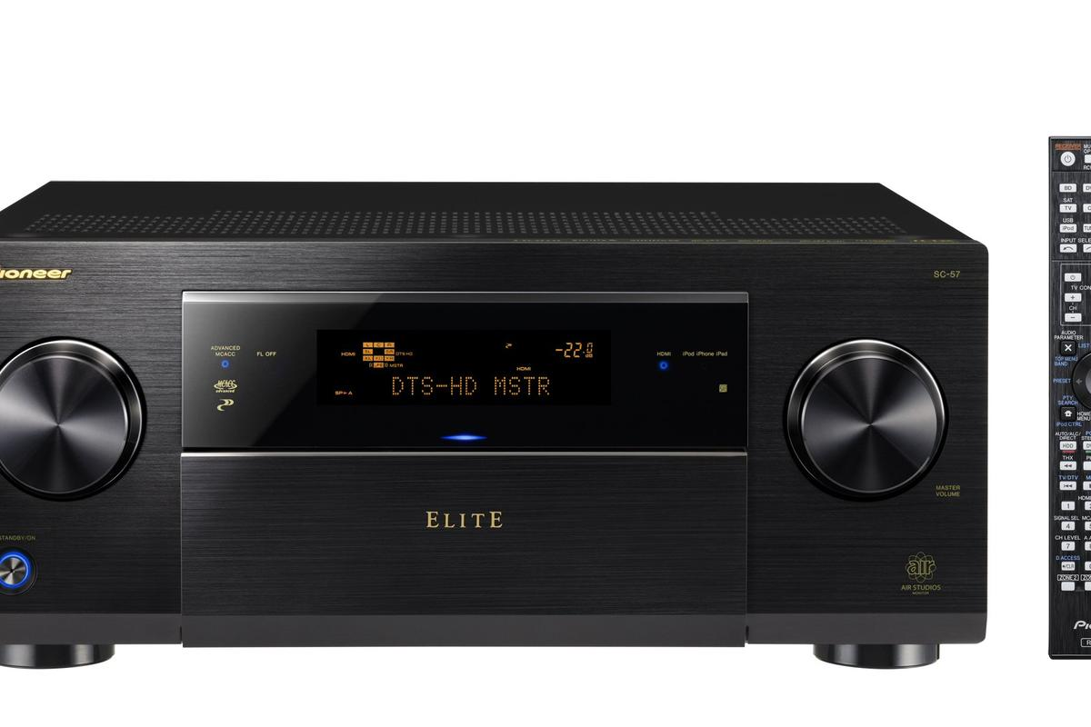 Pioneer's Elite SC-57 AV receiver, with remote