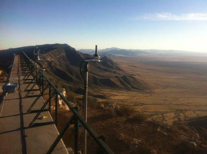 The Locata system installed at the White Sands Missile range