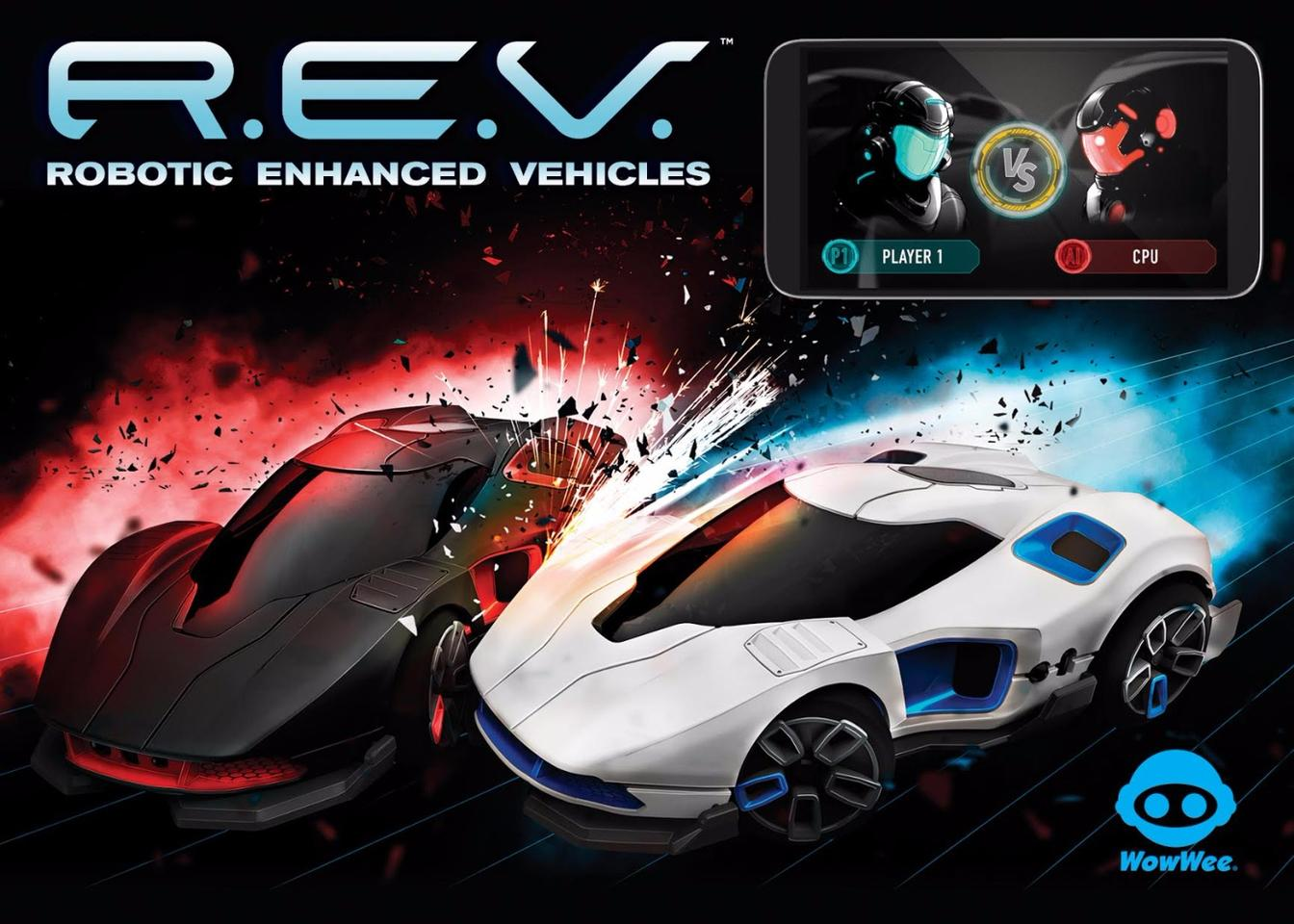 The REV starter set comes with two cars