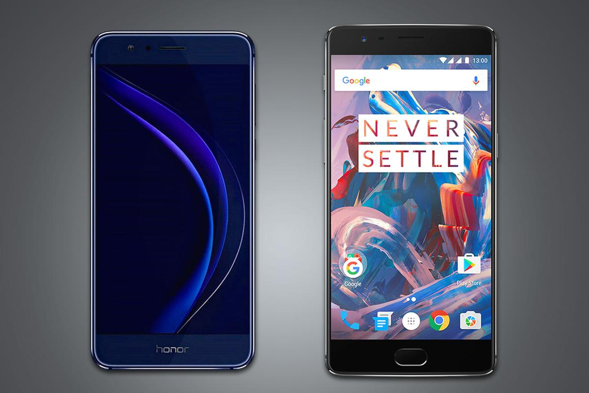 Comparing the Huawei Honor 8 and the OnePlus 3, two smartphones offering leading specs for a bargain price