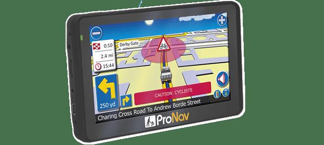 ProNav PNN420 with the ProNav HGV Cyclist Alert software