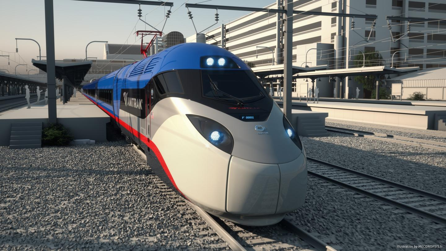 The new trains are being introduced as part of a wider scheme to upgrade infrastructure for the Acela Express