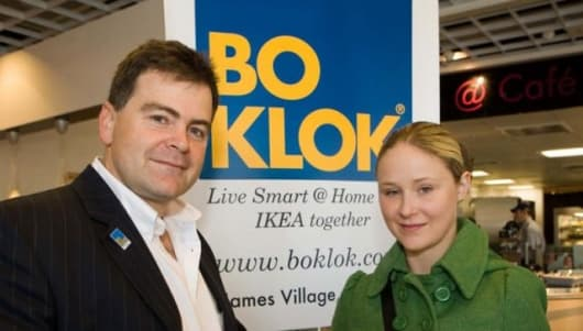 Alan Prole with Claire Pooley at the BoKlok event on October 6