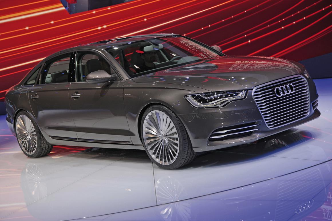 The world premiere of the Audi A6 L e-tron concept the the 2012 Beijing Motor Show