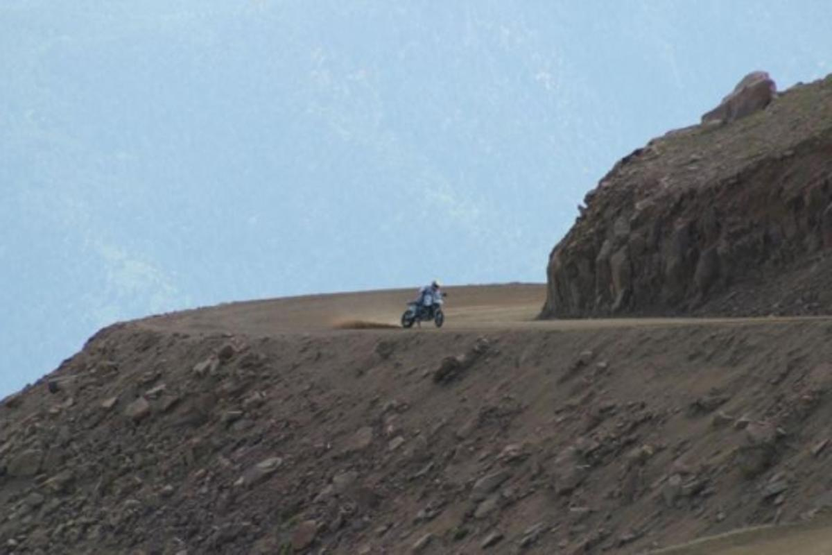 Casey letting the back end drift last year on the HP2 Enduro