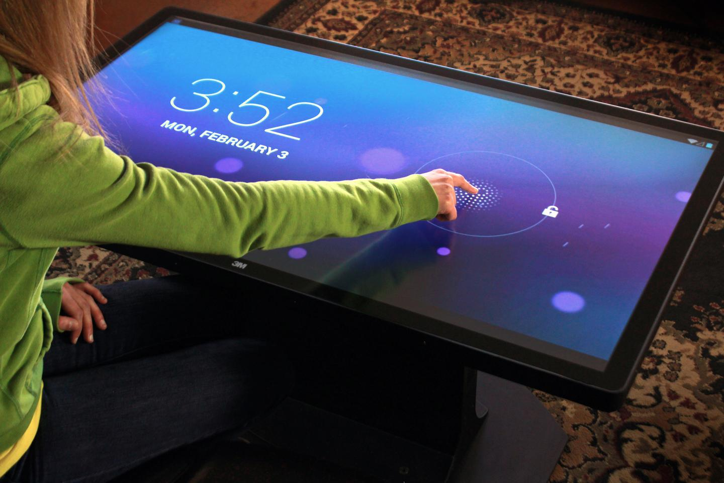 The Android version of Ideum's Platform 46 Coffee Table features the same 60-point simultaneous touch technology and integrated Core i7 computer system as its Windows 8 siblings