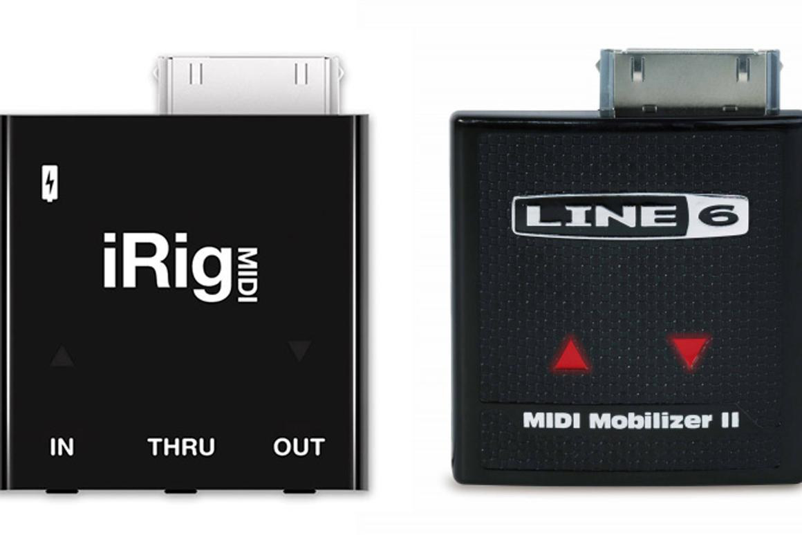 The IK iRig MIDI and Line 6 MIDI Mobilizer - separated at birth?