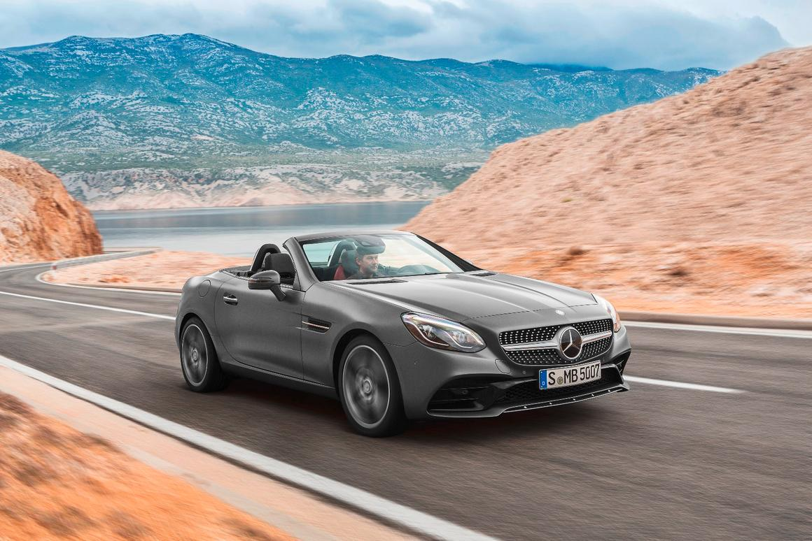 The new Mercedes Benz SLC will replace the SLK for the 2017 model year