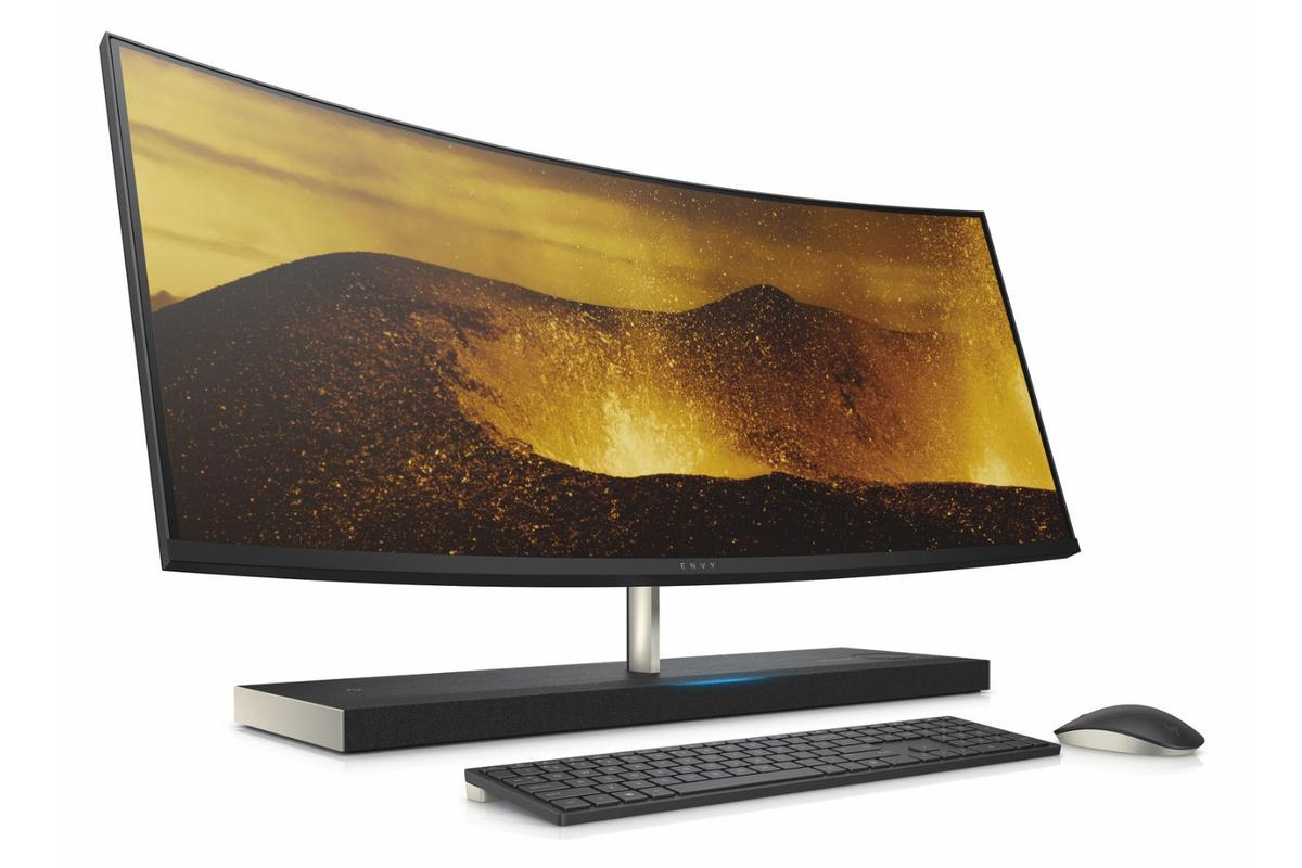 HP's Envy curved 34-inch All-in-One desktop computer with integrated Alexa will be available later in the year for an as-yet-undisclosed price