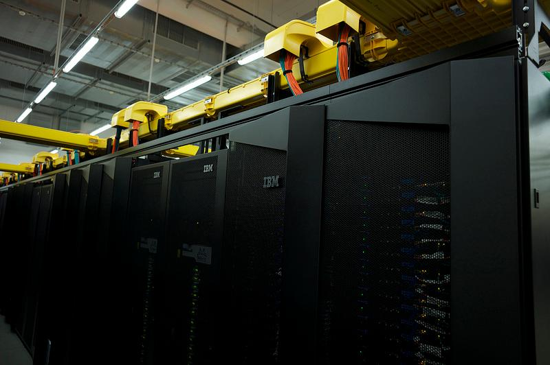 "The new LRZ ""SuperMUC"" system includes more than 150,000 cores to provide a peak performance of up to three petaflops (Image: IBM Research - Zurich)"