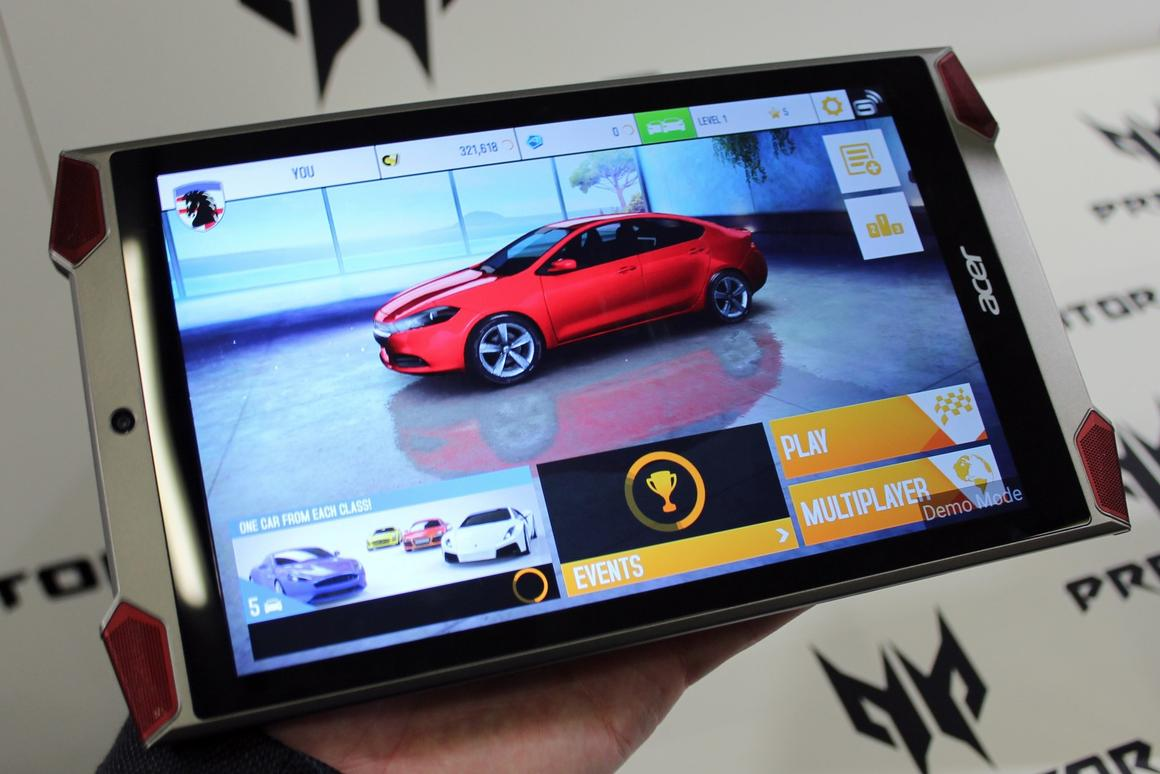 Acer's new tablet is designed for gamers, and it looks the part