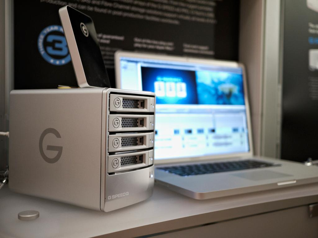 The G-SPEED Q four bay storage solution from G-Technology by Hitachi GST