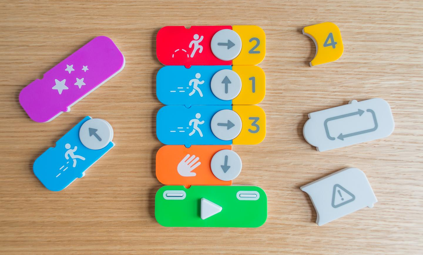 As the Osmo Coding  game develops, users need to create more complex code sequences with the blocks