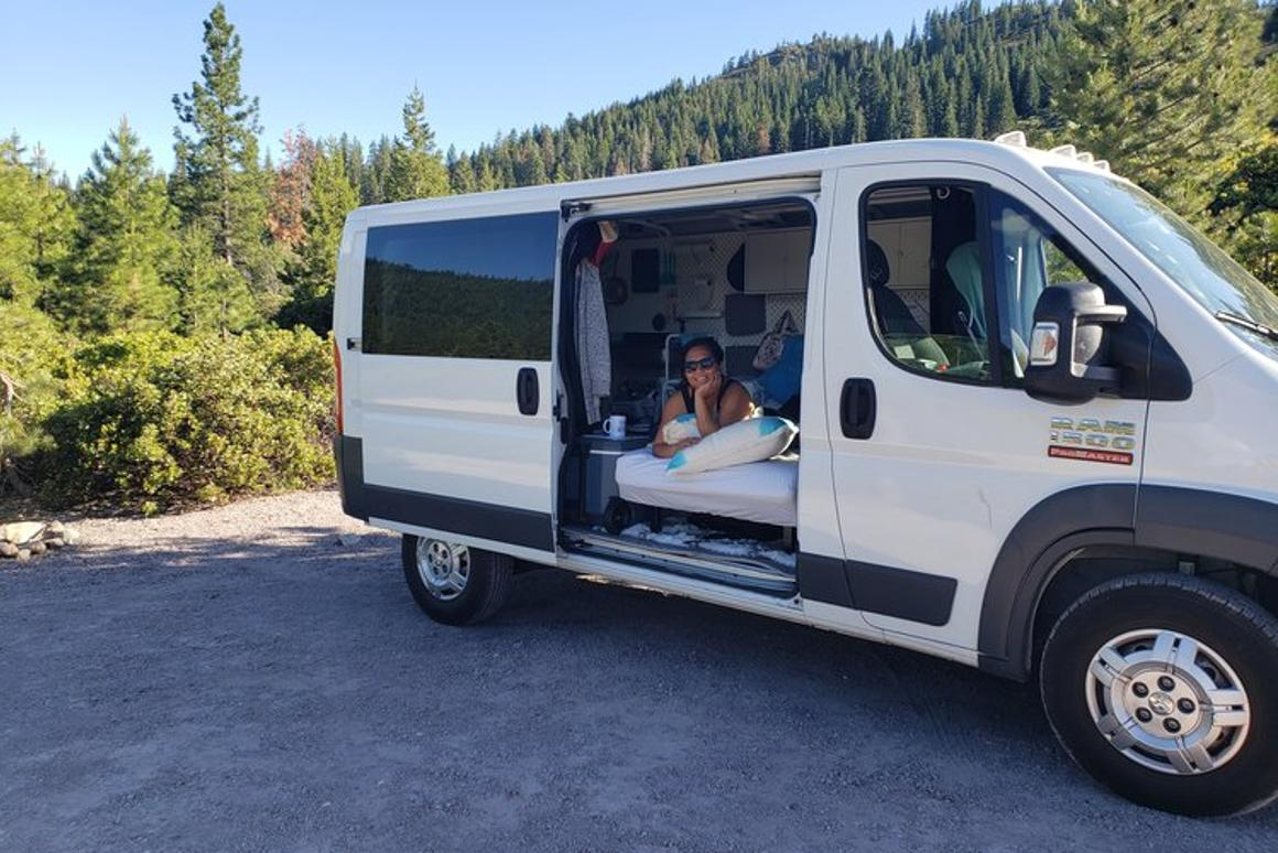 San Francisco-based campervan novice Grace Aquino and her husband Marlon have recently converted a 2017 Ram Promaster cargo van into a carefree camper