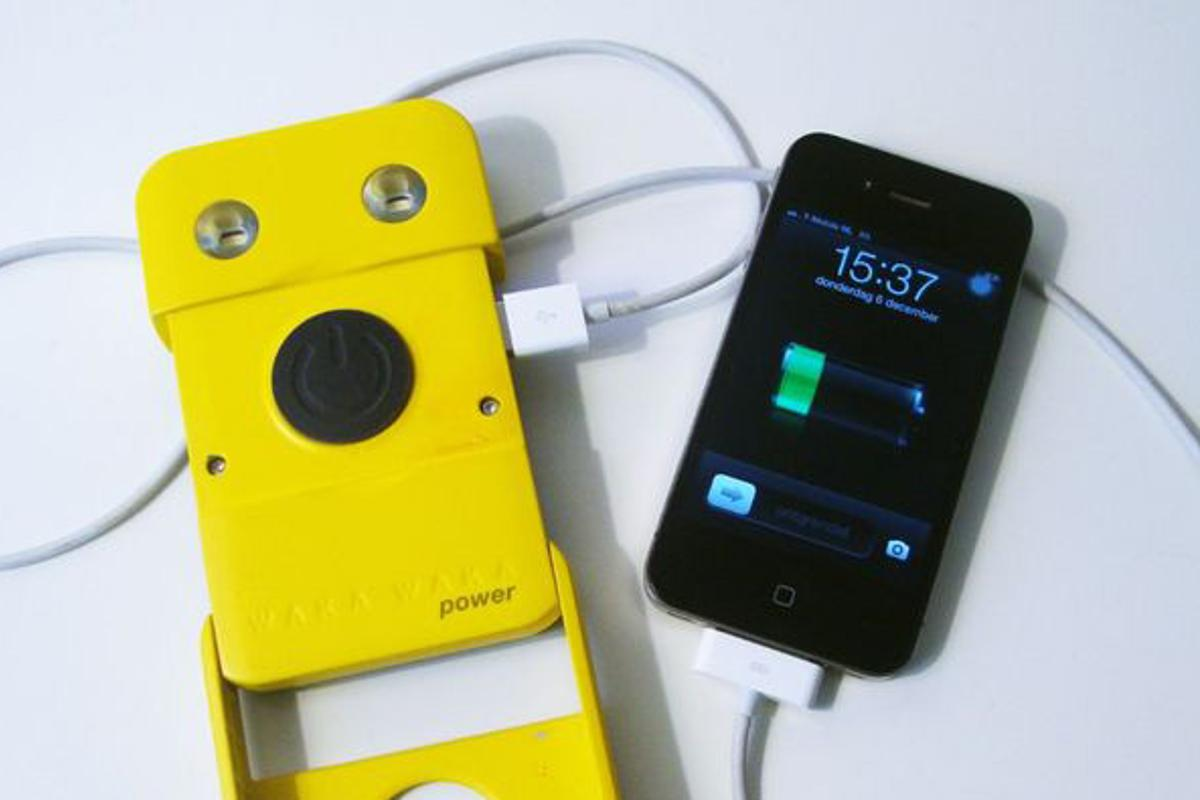 The WakaWaka Power can recharge a smartphone or provide reading light after a day in the sun