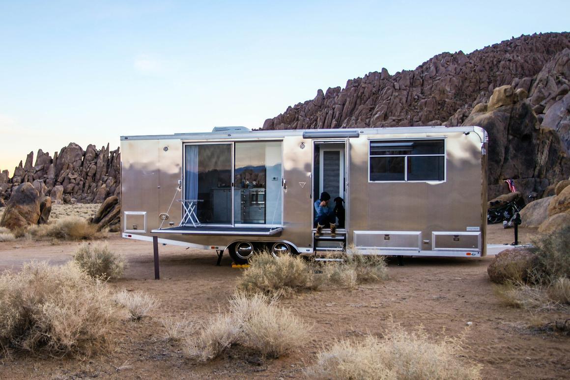 Aluminum net-zero trailer offers luxury living off-grid