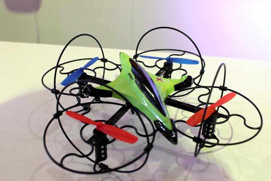 The X-Voice drone is partly controlled by voice commands (Photo:Stu Robarts/Gizmag)