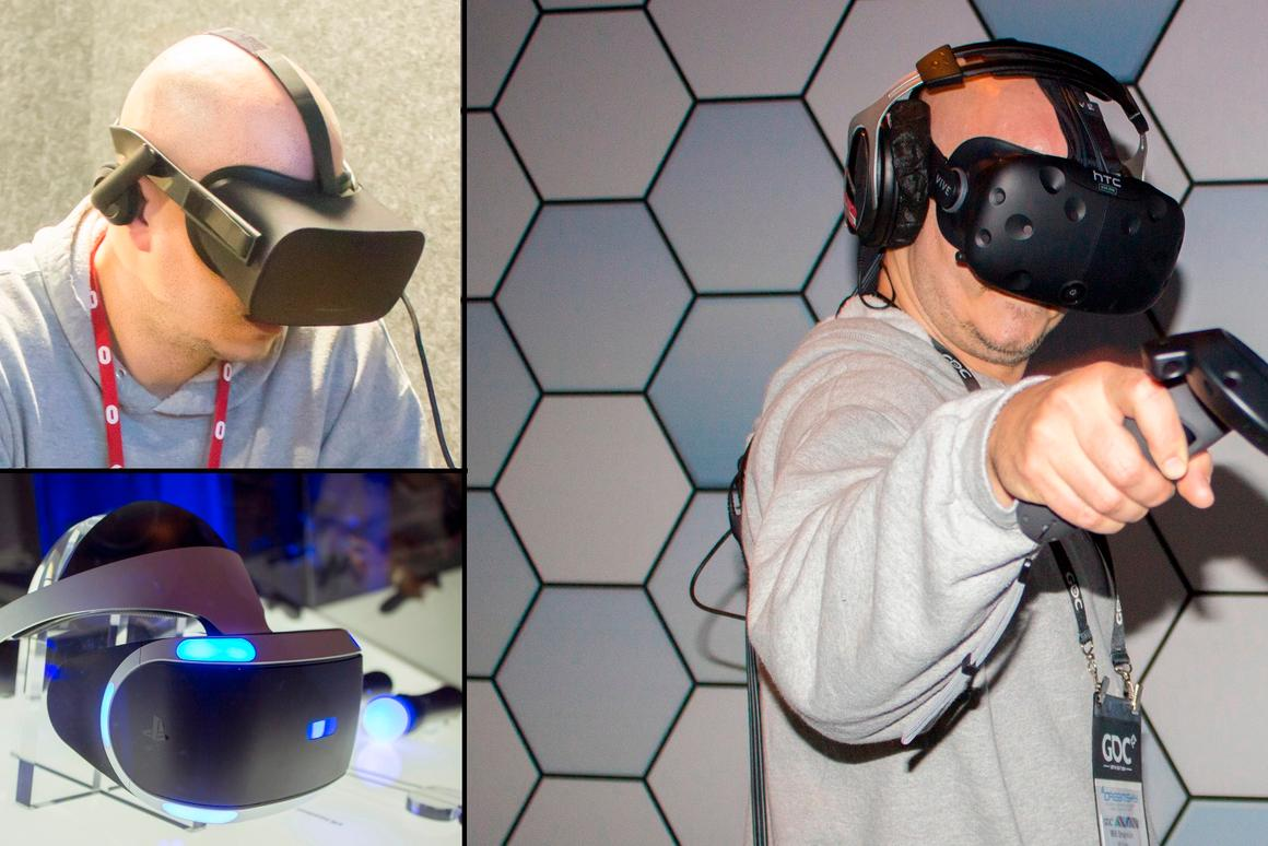 We take a look at the big three VR headsets, after playing with them all week at the 2016 Game Developers' Conference