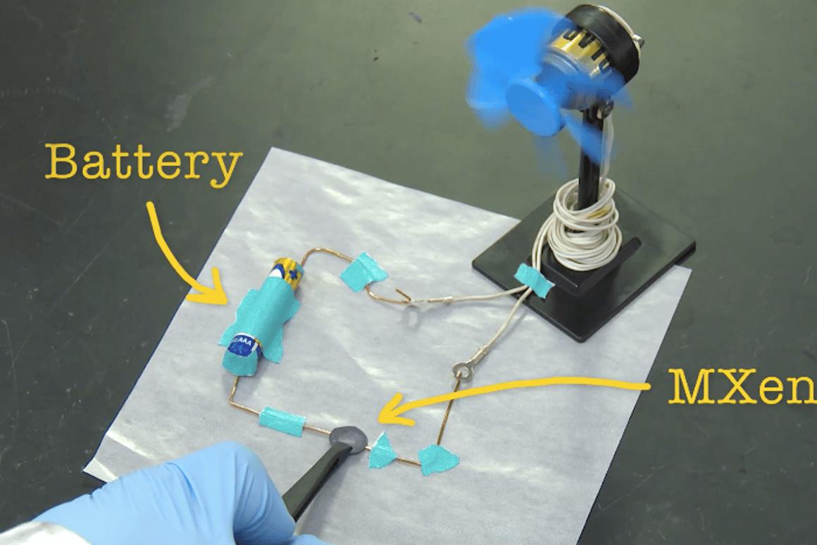 A fan of conductive clay? (Photo: Drexel University)