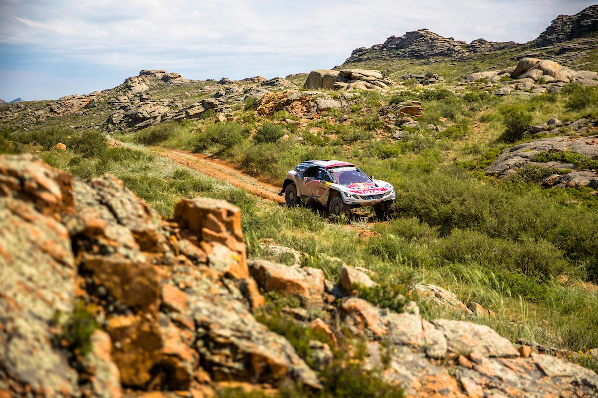Peugeot currently has first, second and fourth spots locked down in the Silk Way Rally