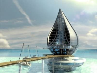 The eye-catching Water Building