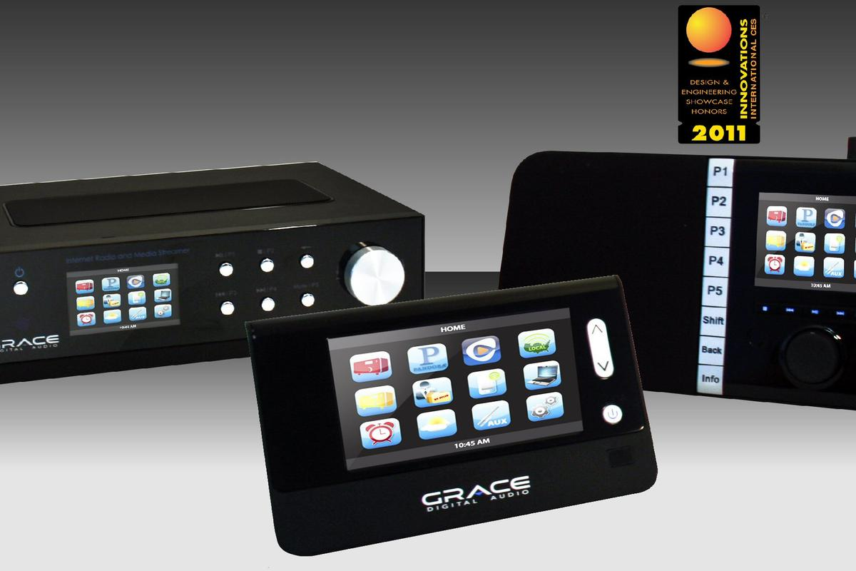 Grace Digital Audio has announced three new Internet radios for CES 2011 - all with color screens