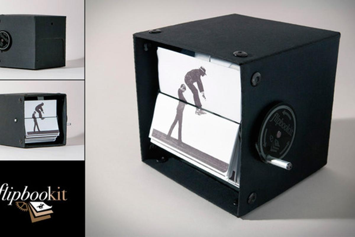 """The image of a prototype of the FlipBooKit, which designer and """"maker of things"""" Wendy Marvel and Mark Rosel are launching through a Kickstarter campaign"""