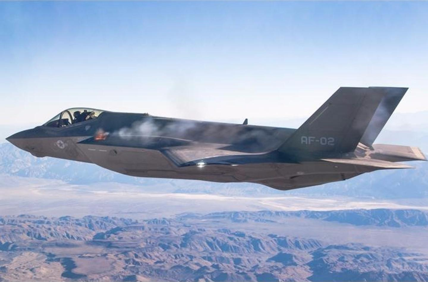 The F-35A Lightning II completed the first three airborne gunfire bursts from its internal Gun Airborne Unit (GAU)-22/A 25mm Gatling gun system