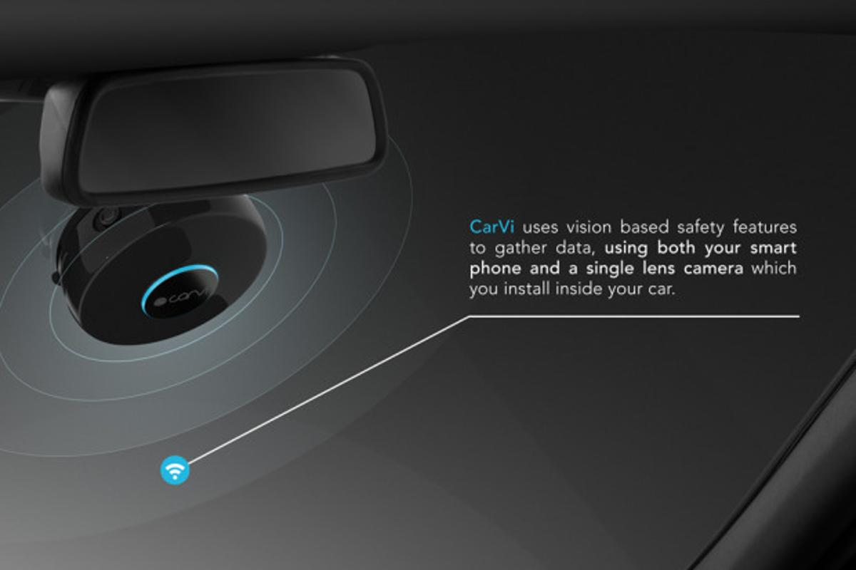 CarVi sticks to the windscreen to add driver assist functionality to nearly any car